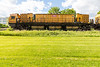 Loram rail grinding unit LMIX-606 on CPR track in Belleville Ontario 2020 June 7 grinding unit