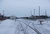 Moosonee train station with fresh snow.