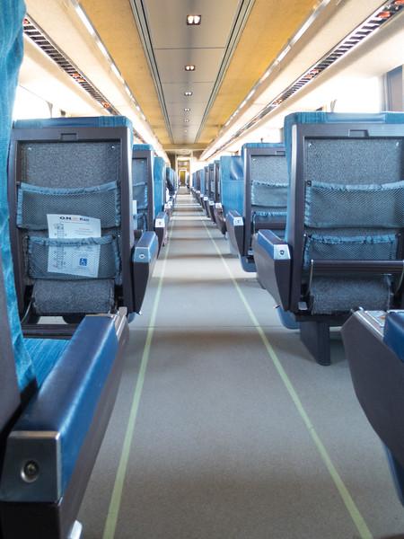 Looking through coach 615 into coach 603.