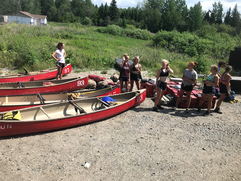 Canoeists at Moose River Crossing.