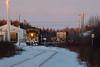 GP38-2 1801 at the head of the Polar Bear Express in Moosonee Station.