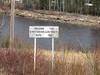 Sign for Kwatabohegan River mileage 174