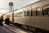 Polar Bear Express in Moosonee. Locomotives detached Coach 614 and baggage 413.