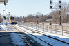 VIA train 64 arriving in Belleville Ontario.