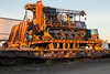 Lantech drill rig on trailer on flatcar ONT 100331. 2016 September 25.