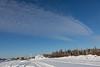 Clouds over Moosonee train station.