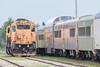 Passenger consist of the Polar Bear Express passes GP38-2s 1809 and 1808.