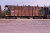 Ontario Northland Railway ballast car 2243 in Moosonee.