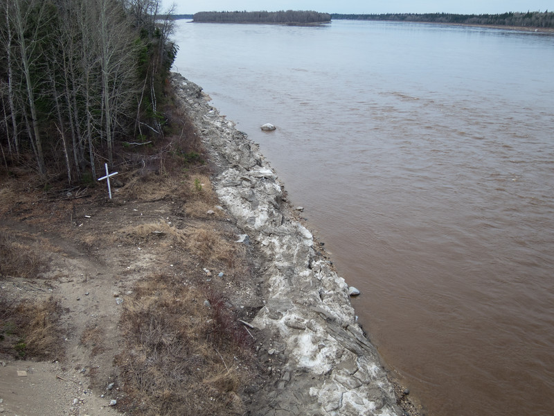North channel of the Moose River at Moose River Crossing 2016 May 12th.