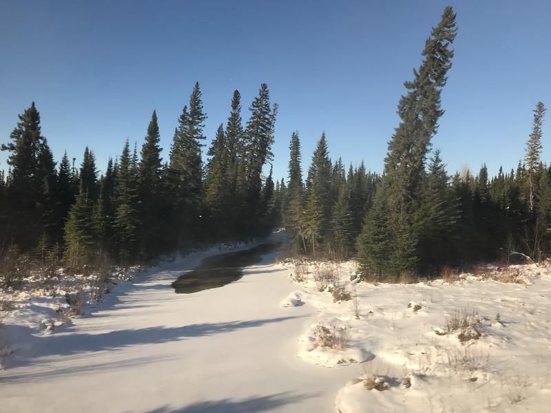 Maidman's Creek south of Moosonee on the Ontario Northland Railway 2017 November 10th.