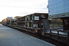 Trailers stacked on flatcar.