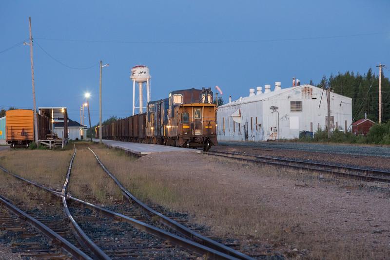 Ontario Northland Railway ballast train in Moosonee.
