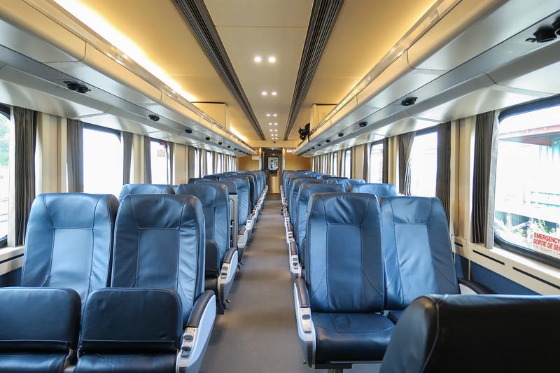 Interior coach 651 in Moosonee. 2017 August 20