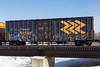Boxcar 7717 crossing Store Creek in Moosonee.