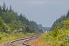Polar Bear Express down the tracks from Moosonee.