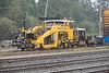 Harsco Mark IV HD Tamper in the rain in Moosonee.