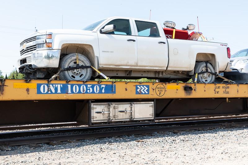Storage compartments flatcar ONT 100507.