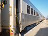 Polar Bear Express passenger coaches in Cochrane.