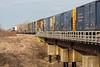 Freight 419 arrives in Moosonee behind GP38-2 locomotives 1802 and 1809.