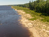 South bank of the north channel of the Moose River 2018 June 24.