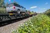 Polar Bear Express heading into Moosonee.  Flatcar 100504.