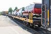 Flatcars for vehicles.