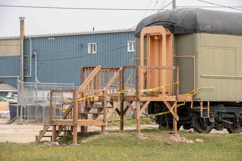 New stairs for museum car.
