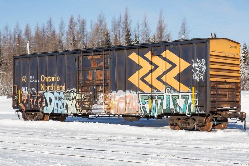 Boxcar 7798 in Moosonee.