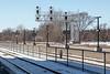 Station platform looking west at Belleville train station