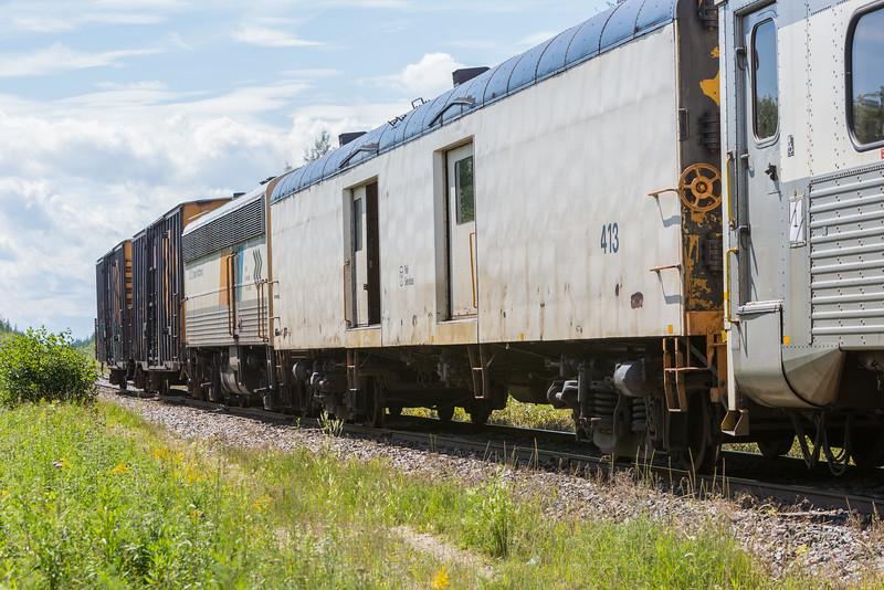 Polar Bear Express heads into Moosonee.