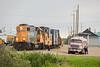 Fueling GP38-2 1808 in Moosonee. Lond hood forward