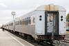 Polar Bear Express along station platform in Mooosonee.