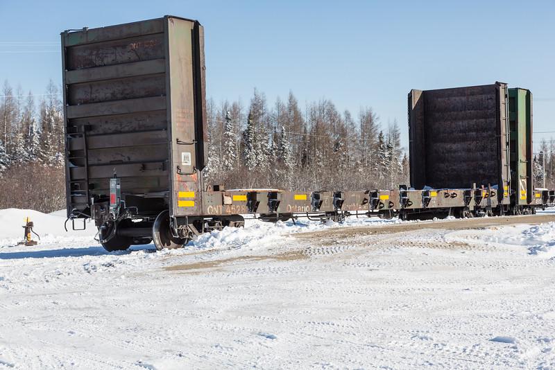 Bulkhead 4528 in Moosonee with end of train device (FRED).