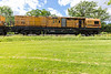 Loram rail grinding unit LMIX-606 on CPR track in Belleville Ontario 2020 June 7 power unit