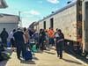 Picking baggage from the Polar Bear Express 2018 September 3