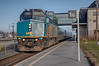 VIA westbound train 65 at Belleville. Locomotive 6414. HDR default.
