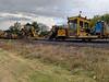 Canadian Pacific Railway maintenance of way equipment along the Keegan Parkway