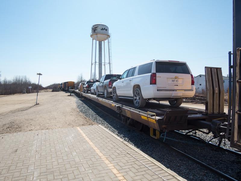 Flatcars for vehicles Polar Bear Express