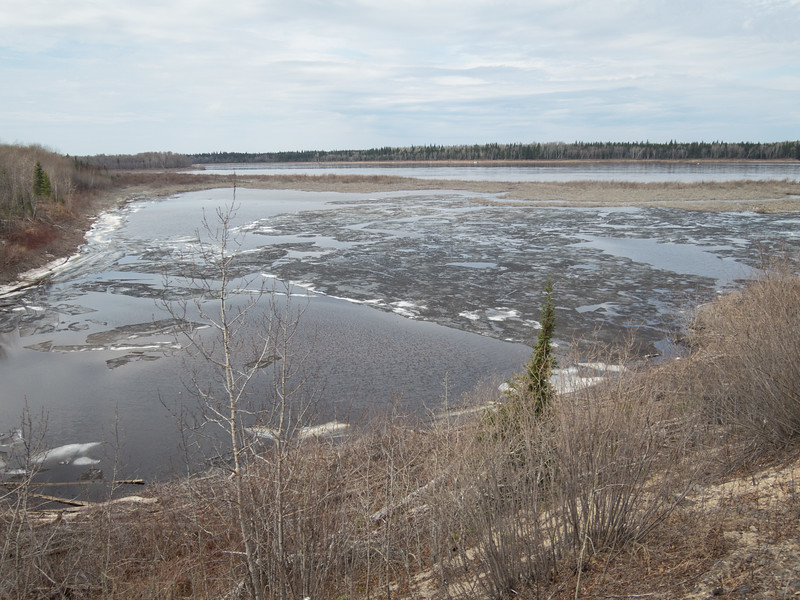 South (blocked) channel of the Moose River at Moose River Crossing