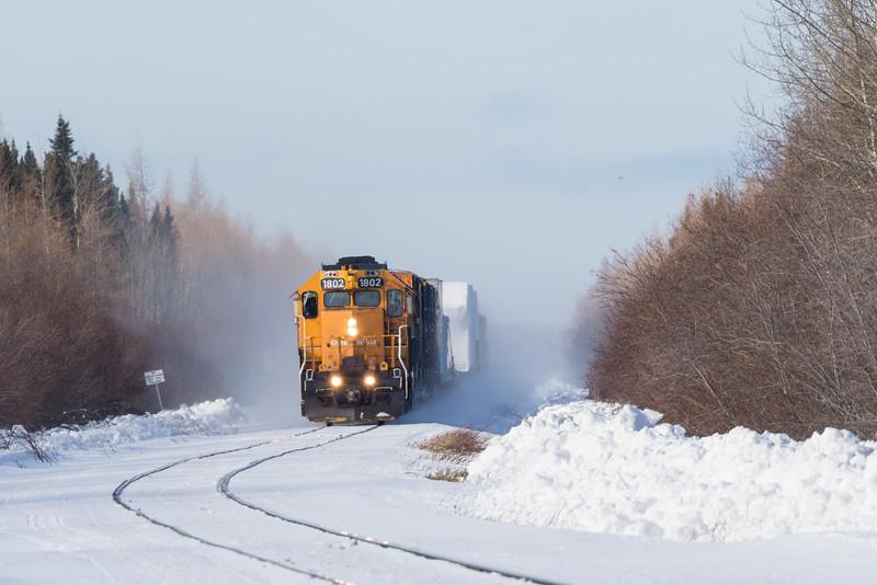 Freight 419 just south of Moosonee.