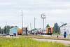 Polar Bear Express passenger consist in Moosonee station.