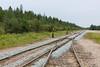 New ballast along tracks in Moosonee.