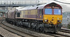 66075 at Newport on Tuesday 20th August 2013 with black pig or sheep below windscreen