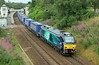 68005 Defiant on Inverness to Mossend containers at Gleneagles on Friday 8th August 2014
