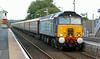 57304 with Northern Belle empty stock at Dyce on 3rd August 2014
