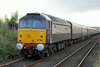 47790 on rear of Northern Belle empty stock at Dyce on 3rd August 2014