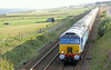 57304 runs past Doonies Farm with returning trip of Northern Belle on Sunday 3rd August 2014