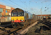 66424 on intermodal through Warrington on 1st February 2014