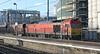 60010 runs through Warrington with coal empties on 1st February 2014
