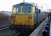 87002 Royal Sovereign  sits in bay platform at Warrington on 1st February 2014